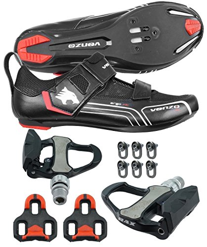 Venzo Road Bike For Shimano SPD SPD SL Look Cycling Bicycle Shoes & Pedals 44.5