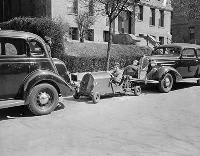1937 photo Washington youngster solves parking problem. Washington, D.C., Mar g8