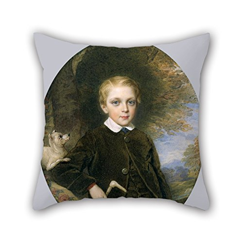 Price comparison product image Slimmingpiggy Oil Painting Reginald Easton - Portrait Of A Boy Pillow Covers 18 X 18 Inches / 45 By 45 Cm Best Choice For Study Room, bar, floor, boys, kids Girls, car Seat With Two Sides