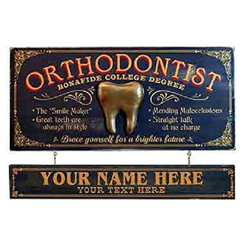 (Health Care Logistics Orthodontist Occupational Sign With Nameboard)