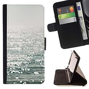 For HTC One M7 Case , eau - la tarjeta de Crédito Slots PU Funda de cuero Monedero caso cubierta de piel
