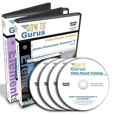 Adobe Photoshop Elements 9 and Adobe Premiere Elements 9 Tutorial Training Course on 4 DVDs (How To Get Photoshop Cs6 For Free)