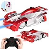 SGILE Remote Control Car Toy, Wall Climbing Climber Car with New Remote Control, Dual Mode 360° Rotating Stunt Car Racing Vehicle, LED Head Rechargeable Gravity Defying, Present for Kids Boy Girl Birthday