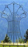 H Potter Garden Harvest Wrought Iron Trellis Weather Resistant Large