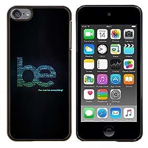 EJOOY---Cubierta de la caja de protección para la piel dura ** Apple iPod Touch 6 6th Touch6 ** --Sea creativo Ayuda Cita Wise Tipo Todo