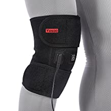 Heated Pad Heat Therapy Knee Wrap Brace Thermotherapy Heating Pad with Pocket for Cold Compress Knee Injury Recovery Cold Hot Warm Therapy Pain Relief 3 Temperature Settings by Yosoo