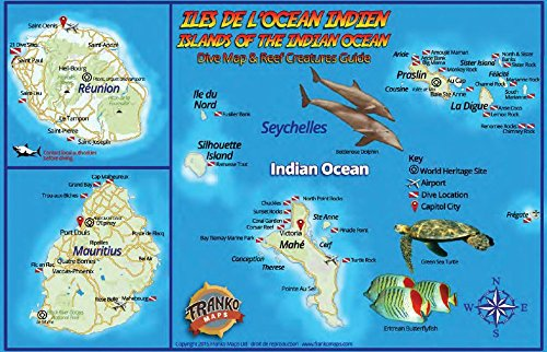 - Indian Ocean Islands Dive Map & Coral Reef Creatures Guide Franko Maps Laminated Fish Card
