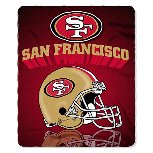 NFL San Francisco 49ers Gridiron Fleece Throw, 50-inches x 60-inches