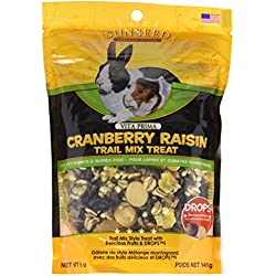 Sunseed Company 36031 Cranberry Raisin Vita Prima Trail Treat For Rabbits And Guinea Pigs, 5 Oz