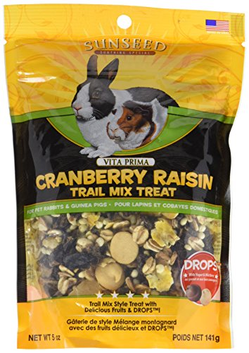 - Sunseed Company 36031 Cranberry Raisin Vita Prima Trail Treat For Rabbits And Guinea Pigs, 5 Oz