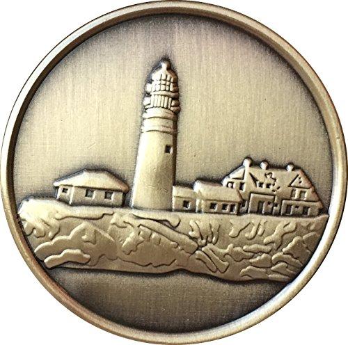 Lighthouse Medallion (Fog Light Prayer Lighthouse Antique Bronze Medallion Chip - Recoverychip)