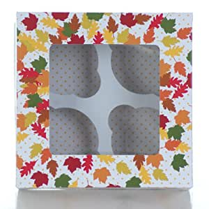 Martha Stewart Collection Set of 4 Harvest Cupcake Boxes