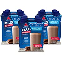 Atkins 3-Pack of 11 oz Plus Protein & Fiber Shake, Chocolate, Keto Friendly
