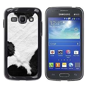 TopCaseStore / la caja del caucho duro de la cubierta de protección de la piel - Spots White Black Dalmatian Fur Animal - Samsung Galaxy Ace 3 GT-S7270 GT-S7275 GT-S7272