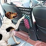 Cargo Net, 2 pocket Seat Back Net Bag, Pet Barrier,Car Mesh Organizer for Purse Bag Phone Pets Children Kids Disturb Stopper