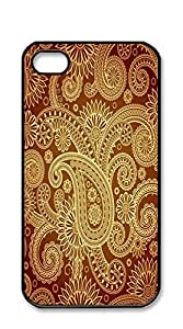 Print Hard Shell cell phone case iphone 4s - European paisley flower pattern