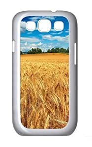 Wheat Field Custom Hard Back Case Samsung Galaxy S3 SIII I9300 Case Cover - Polycarbonate - White