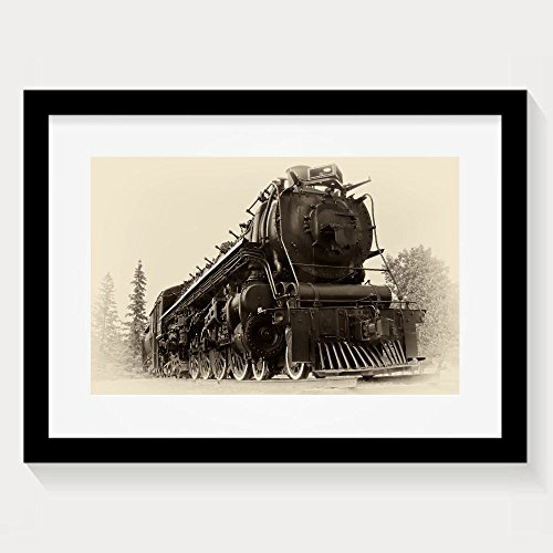 ZhiqianDF Unique A Or Northern Type Steam Train Engine Built By The Montreal Locomotive Works For Framed Wall Art Prints - Eyeglasses Montreal