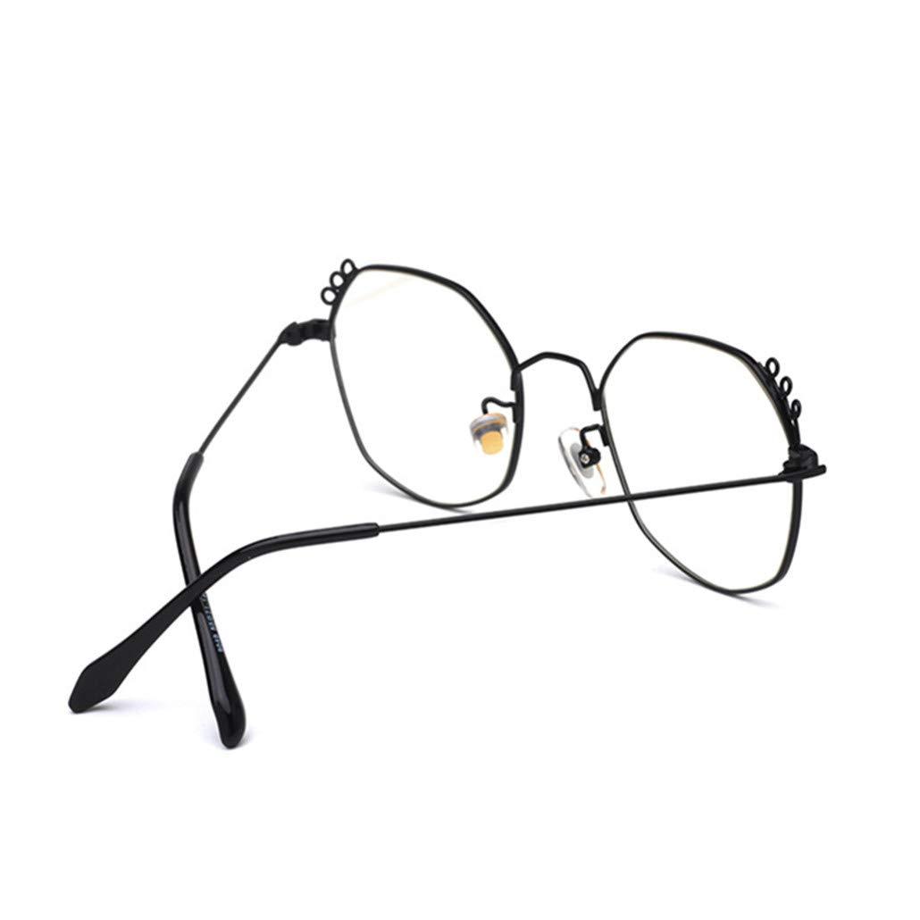 Anti Luce Blu Occhiali Montatura leggera alla moda Metallo Uomo Donna Trasparente Lente Computer Occhial
