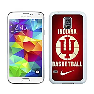 Customized Phone Case For Samsung S5 Indiana Hoosiers Cell Phone Cover Case for Samsung Galaxy S5 I9600 G900a G900v G900p G900t G900w White
