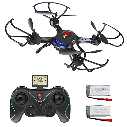Drone with Camera, DEERC Drone for Kids and Beginners RC Quadcopter RTF 4 Channel 6-Axis Gyro with Altitude Hold Bonus Batteries