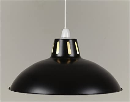 17 black retro large metal coolie glossy lampshade ceiling 17quot black retro large metal coolie glossy lampshade ceiling pendant modern light fitting mozeypictures Images