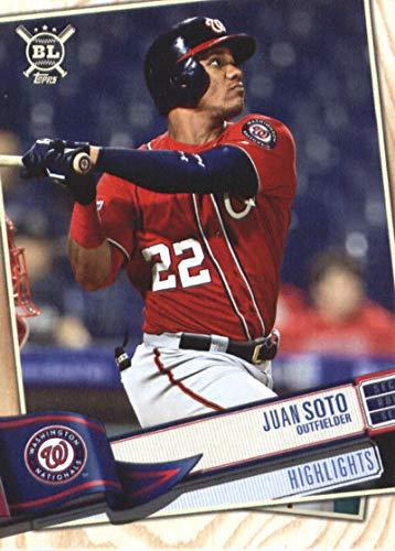 2019 Big League Baseball #397 Juan Soto Washington Nationals Official MLB Trading Card From Topps (Washington Mlb Card Nationals)