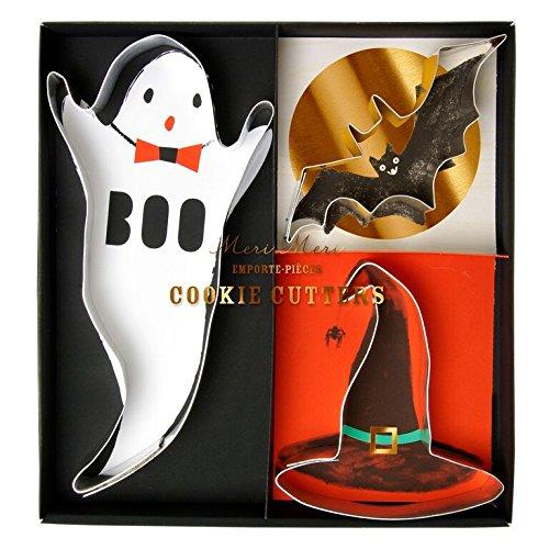 (Meri Meri Halloween Spooky Cookie Cutters Ghost, Bat & Witches Hat (3)