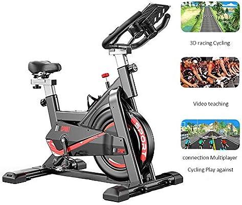 WuoooLi Bicicleta de Spinning,Bicicleta Estática con Sistema de ...