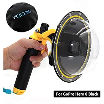 Dome Port Lens with Transparent Cover Pistol Trigger Attached for Underwater Photography Action Camera Accessory Housing Case of Waterproof 30M for GoPro Dome Hero Session