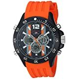 U.S. Polo Assn. Men's Quartz Metal and Rubber Casual Watch, Color:Orange (Model: US9526)