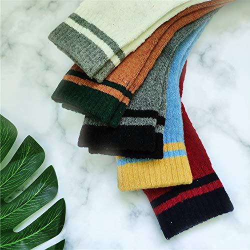 Simples A3 Laine Epaisses Chaussettes Classiques Hiver Chaudes En Super 5paires Femme Doux Avw7f