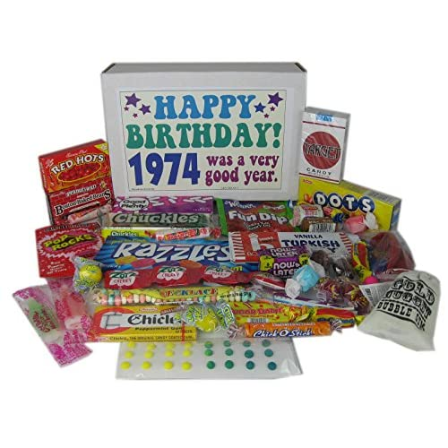 43rd Birthday Gift Box Of Nostalgic Retro Candy For A 43 Year Old