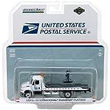 2013 International Flatbed Durastar Tow Truck USPS with Mailman Figure HD Trucks Series 11, 1/64 Diecast Model by GreenLight 33110B
