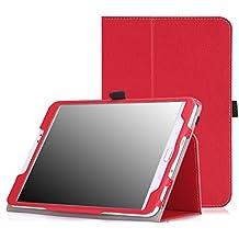MoKo Samsung Galaxy Tab S2 8.0 Case - Slim Folding Cover Case With Auto Wake / Sleep for Samsung Galaxy Tab S2 / S2 Nook 8.0 inch Tablet, RED (With Auto Wake / Sleep and Stylus Pen Loop)