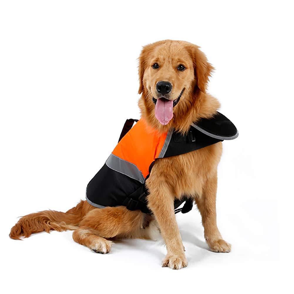 orange X-Large orange X-Large Dog Life Jacket,Dog Safety Life Coat Velcro Buckle Double Fixed D Buckle Design can be Connected to The Traction Rope Large Buoyancy Safe Swimming,orange,XL