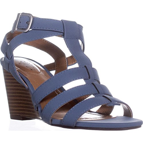 amp; Blue Compensés Co Style Dutch Sandales Haydar Cuir dqfdPzw
