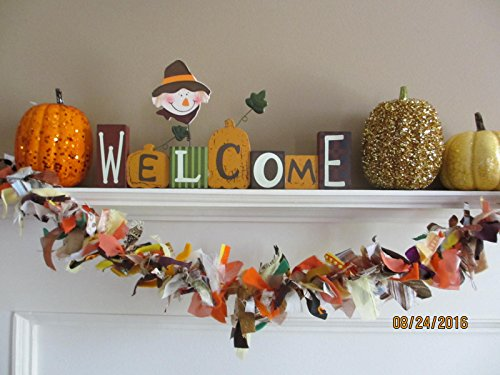 New Item Fall Wedding Garland, Fall Garland, 36 inch/1 Yard Fall Holiday Decor, School Decorations,Thanksgiving Centerpiece Accent]()