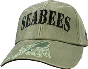 US Navy Olive Drab Green Seabees Cap