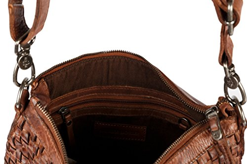 SALVADOR BACHILLER Borsa a Tracolla Intrecciata - Sloan SB93 - Cognac