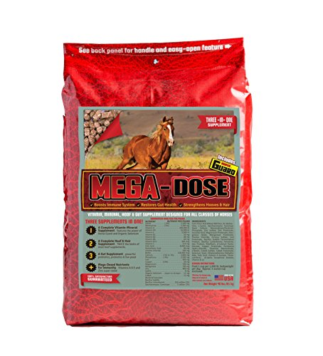Horse Guard Mega Dose Equine Vitamin Mineral Hoof & Probiotic Supplement, 40 lb by Horse Guard