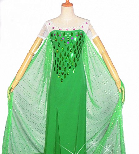 Frozen Fever Princess Luxury Spring Cosplay Costume Dress of Size S
