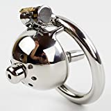 Teriya Short Solitary Extreme Confinement Chastity Cage Men Penis Restraint Super Small Size Male Chastity Device(1pc)