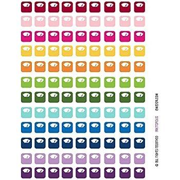 Amazon.com: Monthly Planner Stickers Rainbow Bikes ...