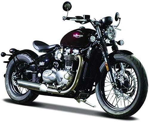 Burago BBurago Triumph Bonneville Bobber (Dk Red/ Black) - Motorcycle Die Cast Model Scale 1:18