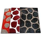 RMHANDLOOM Pure Cotton Anti Skid Door Mat/Bath Mat/Kitchen Mat - (Multicolor) ((Set of 3) (Multicolor2))