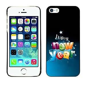 YOYO Slim PC / Aluminium Case Cover Armor Shell Portection //Christmas Holiday Happy New Year 1003 //Apple Iphone 5 / 5S by icecream design