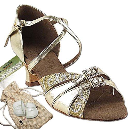 Women's Ballroom Dance Shoes Salsa Latin Practice Shoes S92307EB Comfortable-Very Fine 2