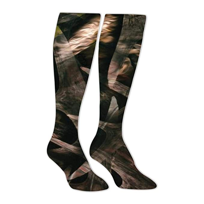 a799b2b5de5 Amazon.com  Yu2Ye Stylish Green Stag Camo Knee High Socks Long ...