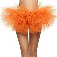 Aimado Womens Short Ballerina Tulle Tutu Skirt Mini Mesh Elastic Waist Lingerie Skirt